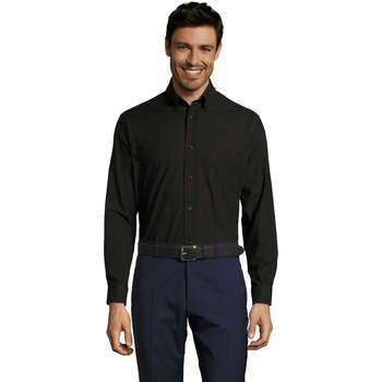 vaatteet Miehet Pitkähihainen paitapusero Sols BOSTON STYLE OXFORD Negro