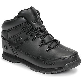 kengät Lapset Bootsit Timberland EURO SPRINT Black