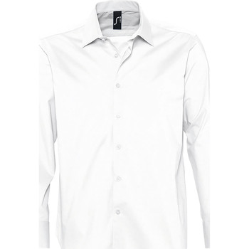 vaatteet Miehet Pitkähihainen paitapusero Sols BRIGHTON STRECH Blanco