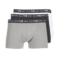 Alusvaatteet Miehet Bokserit DIM COTON STRETCH X3 Musta / Grey / Valkoinen