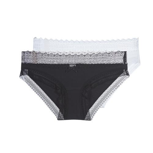 Alusvaatteet Naiset Pikkuhousut DIM SEXY FASHION X2 Black / White