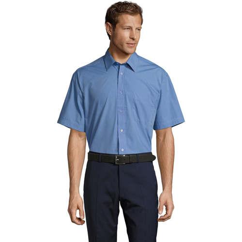 vaatteet Miehet Lyhythihainen paitapusero Sols BRISTOL MODERN WORK Azul