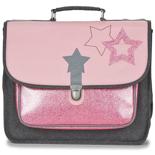laukut Tytöt Koululaukut Citrouille et Compagnie SCUOLA 38 CM Pink / Grey
