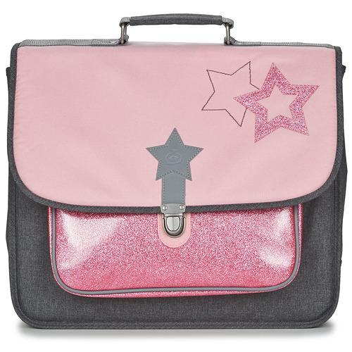 laukut Tytöt Koululaukut Citrouille et Compagnie SCUOLA 41 CM Pink / Grey
