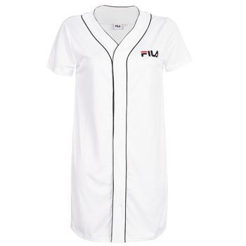 vaatteet Naiset Lyhyt mekko Fila WOMEN ROBIN button baseball dr White