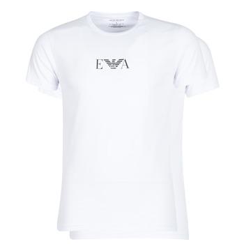 vaatteet Miehet Lyhythihainen t-paita Emporio Armani CC715-111267-04712 White