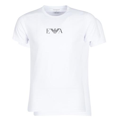 vaatteet Miehet Lyhythihainen t-paita Emporio Armani CC715-111267-04712 Valkoinen