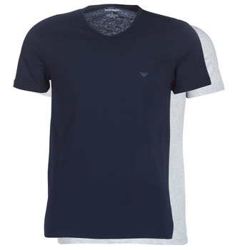 vaatteet Miehet Lyhythihainen t-paita Emporio Armani CC722-111648-15935 Laivastonsininen / Harmaa