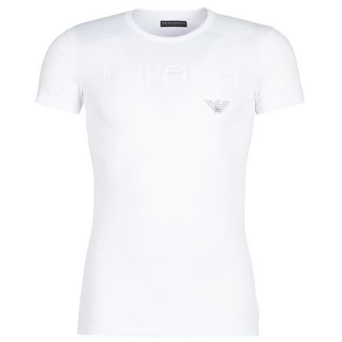vaatteet Miehet Lyhythihainen t-paita Emporio Armani CC716-111035-00010 White