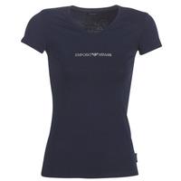 vaatteet Naiset Lyhythihainen t-paita Emporio Armani CC317-163321-00135 Laivastonsininen