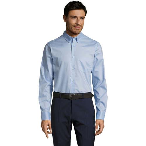 vaatteet Miehet Pitkähihainen paitapusero Sols BUSSINES MODERN MEN Azul