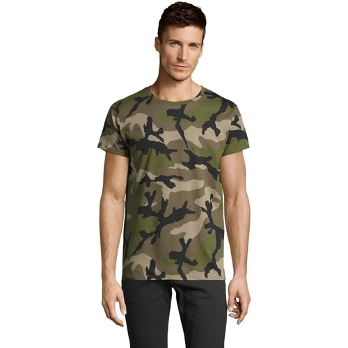 vaatteet Miehet Lyhythihainen t-paita Sols CAMOUFLAGE DESIGN MEN Verde