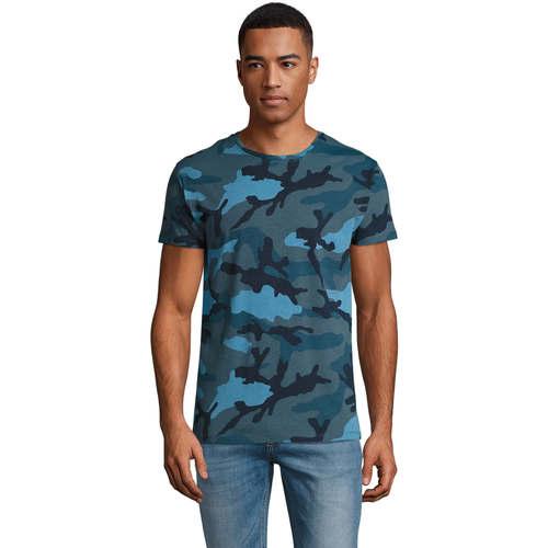 vaatteet Miehet Lyhythihainen t-paita Sols CAMOUFLAGE DESIGN MEN Azul
