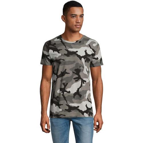 vaatteet Miehet Lyhythihainen t-paita Sols CAMOUFLAGE DESIGN MEN Gris