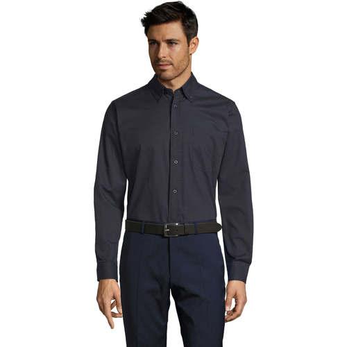 vaatteet Miehet Pitkähihainen paitapusero Sols BEL-AIR TWILL MEN Azul