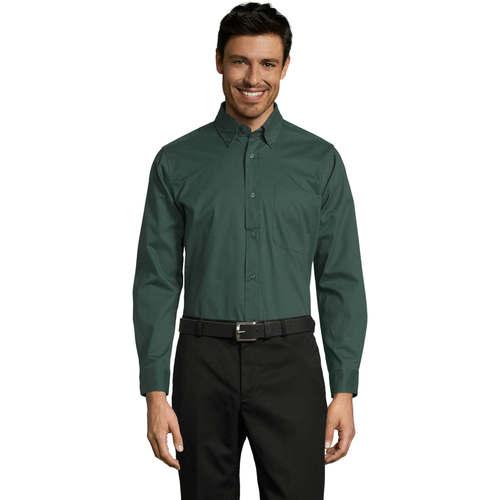 vaatteet Miehet Pitkähihainen paitapusero Sols BEL-AIR TWILL MEN Verde