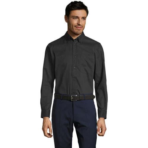 vaatteet Miehet Pitkähihainen paitapusero Sols BEL-AIR TWILL MEN Negro