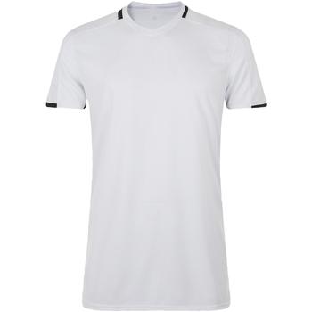vaatteet Miehet Lyhythihainen t-paita Sols CLASSICO SPORT Blanco