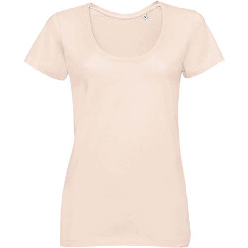 vaatteet Naiset Lyhythihainen t-paita Sols METROPOLITAN CITY GIRL Rosa