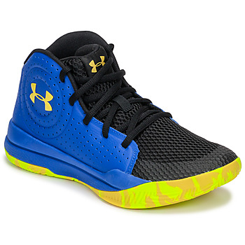 kengät Lapset Koripallokengät Under Armour GS JET 2019 Blue / Yellow