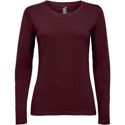 vaatteet Naiset T-paidat pitkillä hihoilla Sols MAJESTIC COLORS GIRL violeta