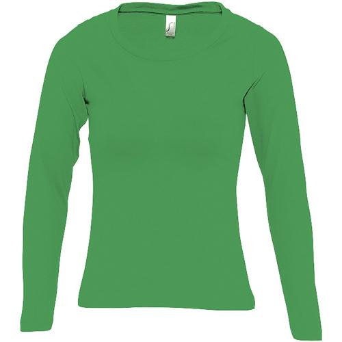 vaatteet Naiset T-paidat pitkillä hihoilla Sols MAJESTIC COLORS GIRL Verde