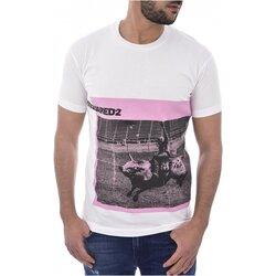 vaatteet Miehet Lyhythihainen t-paita Dsquared S71GD0713 White