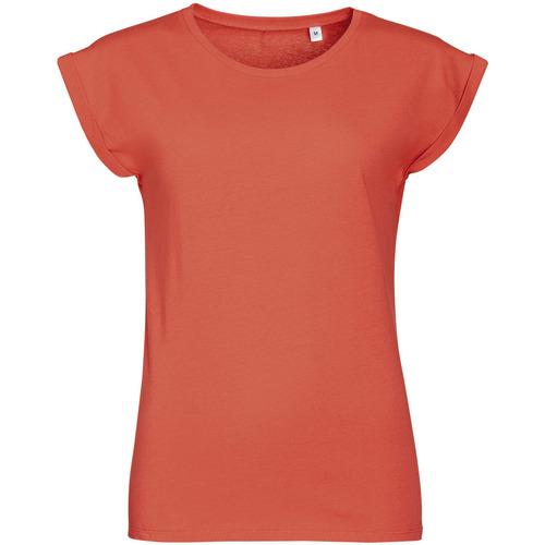 vaatteet Naiset Lyhythihainen t-paita Sols MELBA TROPICAL GIRL Rosa