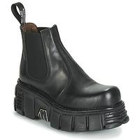 kengät Naiset Bootsit New Rock M-1554-C1 Musta