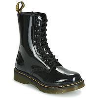kengät Naiset Bootsit Dr Martens 1490 PATENT LAMPER Black
