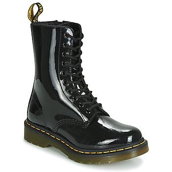 kengät Naiset Bootsit Dr Martens 1490 PATENT LAMPER Musta