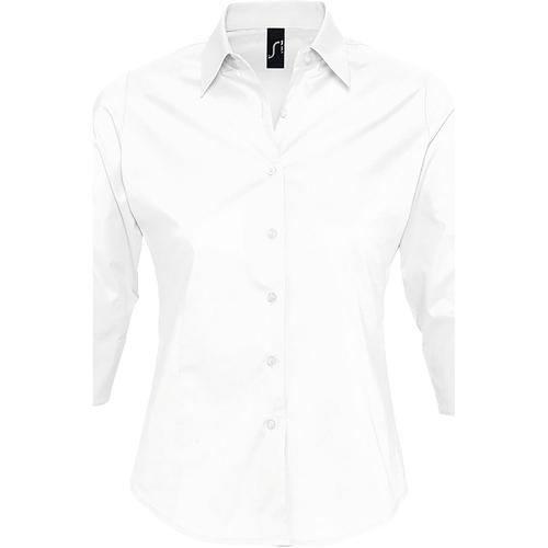 vaatteet Naiset Paitapusero / Kauluspaita Sols EFFECT ELEGANT Blanco