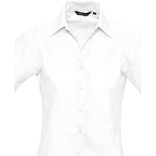 vaatteet Naiset Paitapusero / Kauluspaita Sols ELITE OXFORD Blanco