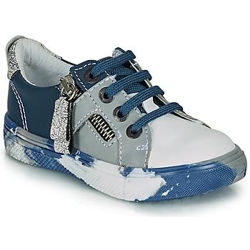 kengät Pojat Matalavartiset tennarit Ikks BRANDON Blue / Grey
