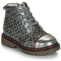 kengät Tytöt Bootsit GBB NEVA Grey / Metallinen