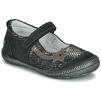 kengät Tytöt Balleriinat GBB NYOKO Black / Hopea