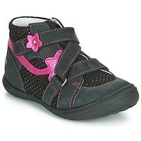 kengät Tytöt Bootsit GBB NINA Musta / Vaaleanpunainen