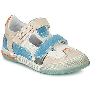 kengät Pojat Matalavartiset tennarit GBB PRINCE White / Beige / Blue