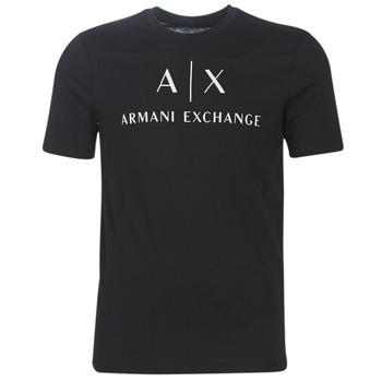 vaatteet Miehet Lyhythihainen t-paita Armani Exchange 8NZTCJ-Z8H4Z-1200 Black