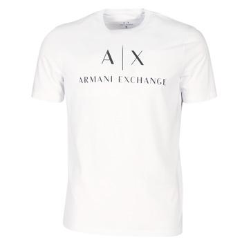 vaatteet Miehet Lyhythihainen t-paita Armani Exchange 8NZTCJ-Z8H4Z-1100 White