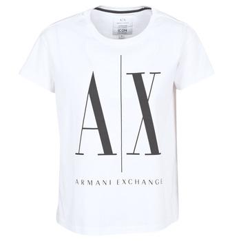 vaatteet Naiset Lyhythihainen t-paita Armani Exchange 8NYTCX-YJG3Z-5102 White