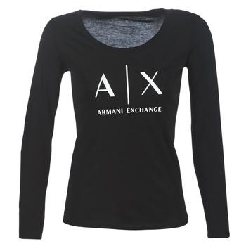 vaatteet Naiset T-paidat pitkillä hihoilla Armani Exchange 8NYTDG-YJ16Z-1200 Black
