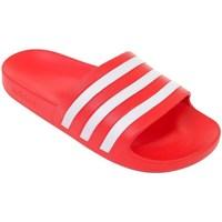 kengät Miehet Rantasandaalit adidas Originals Adilette Aqua Punainen