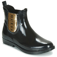 kengät Naiset Kumisaappaat Guess REKHA3 Black / Kulta