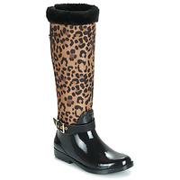 kengät Naiset Kumisaappaat Guess CICELY Musta / Leopardi