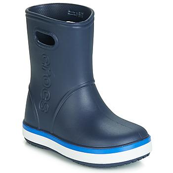 kengät Lapset Kumisaappaat Crocs CROCBAND RAIN BOOT K Laivastonsininen