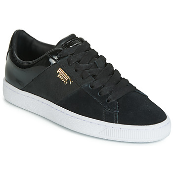kengät Naiset Matalavartiset tennarit Puma BASKET REMIX Black / Kulta