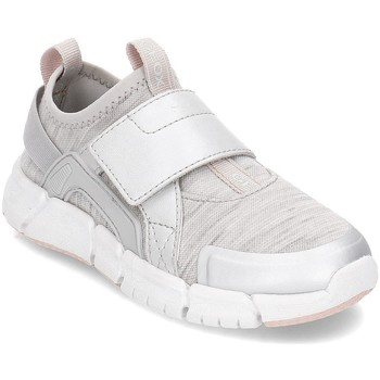 kengät Lapset Tennarit Geox Junior Flexyper Harmaat,Hopeanväriset