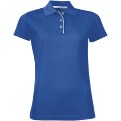 vaatteet Naiset Lyhythihainen poolopaita Sols PERFORMER SPORT WOMEN Azul