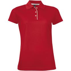 vaatteet Naiset Lyhythihainen poolopaita Sols PERFORMER SPORT WOMEN Rojo